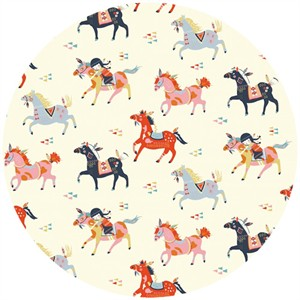 Miriam Bos for Birch Organic Fabrics, Wildland, KNIT, Wild Horses