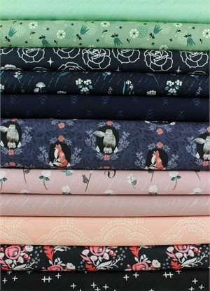 Fabricworm Custom Bundle, Midnight Forest in FAT QUARTERS 11 Total