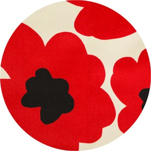Japanese Import, TWILL, Midsummer Poppies Cardinal