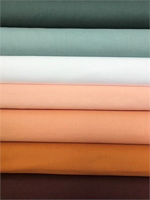 Birch Organic Fabrics, Mod Basics, Solid Mod Neutrals in FAT QUARTERS 7 Total