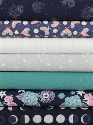 Rae Ritchie for Dear Stella, Moon Garden in FAT QUARTERS 7 Total