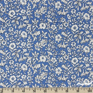 Liberty London Fabrics, Cottage Garden, Morning Dew Blue