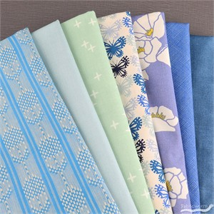 Fabricworm Custom Bundle, Morning Dew in FAT QUARTERS 7  Total