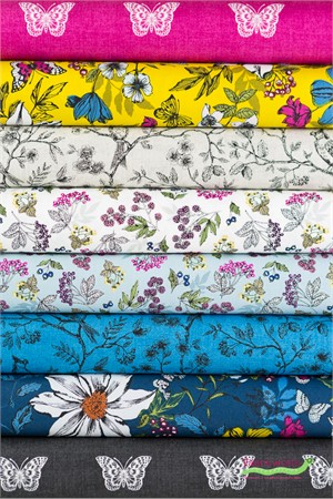 Makower UK, Botanica in FAT QUARTERS 8 Total