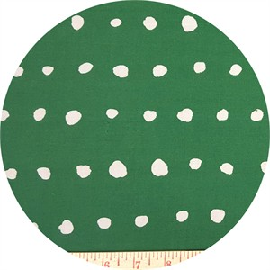 Nani Iro, Plisse, Painted Dot Green