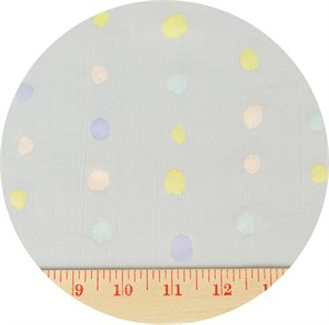 Nani Iro, Plisse, Paint Dot Grey