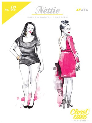 Closet Case, Sewing Pattern, Nettie Dress and Bodysuit