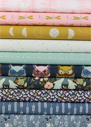 Maureen Cracknell for Art Gallery, Nightfall, Moonrise in FAT QUARTERS 10 Total