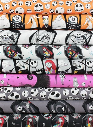 Camelot Fabrics, Nightmare Before Christmas in FAT QUARTERS 9 Total
