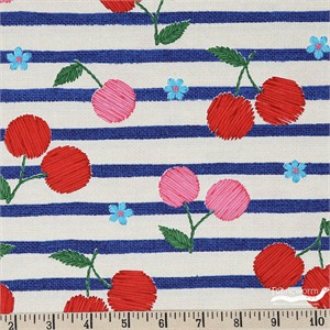 Japanese Import, OXFORD, Cherry Stripe
