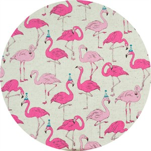 Cosmo Textiles, OXFORD, Pink Partying Flamingos