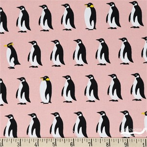Japanese Import, OXFORD, Pretty Penguins Pink