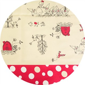 Japanese Import, OXFORD, Snow White's Gift Exchange Double Border Red