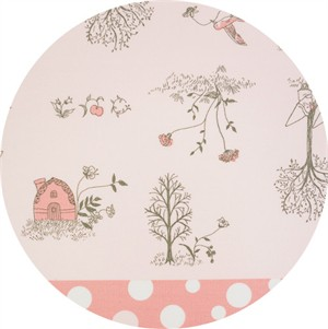Japanese Import, OXFORD, Snow White's Gift Exchange Double Border Pink