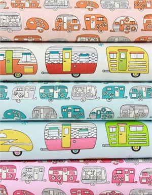 Robert Kaufman, On The Road, METALLIC in FAT QUARTERS 5 Total