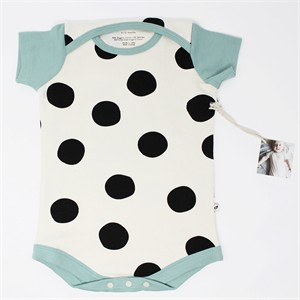 Kinder Play Co, Organic Cotton, Pop Dots Black Pool Onesie