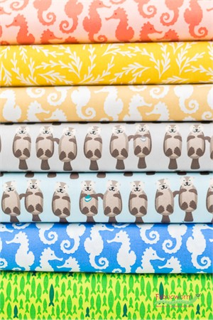 Fabricworm Custom Bundle, Otterly Amazing in FAT QUARTERS 6 Total