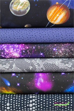 Fabricworm Custom Bundle, Out of this World in FAT QUARTERS 6 Total