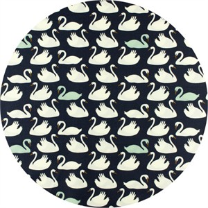 Patrick and Andrea Patton for Birch Organic Fabrics, Swan Lake, Bevy Dusk/Mint
