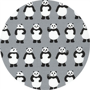 Sevenberry for Robert Kaufman, Mini Prints, Panda Grey