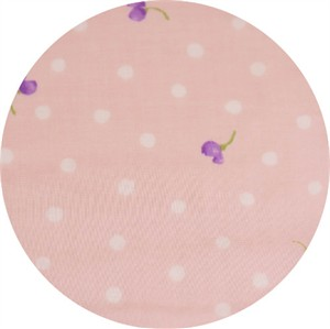 Japanese Import, DOUBLE GAUZE, Pansy Dot Pink