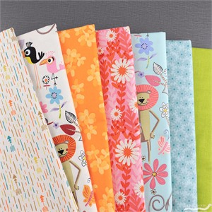 Fabricworm Custom Bundle, Party Animals FAT QUARTERS 7 Total