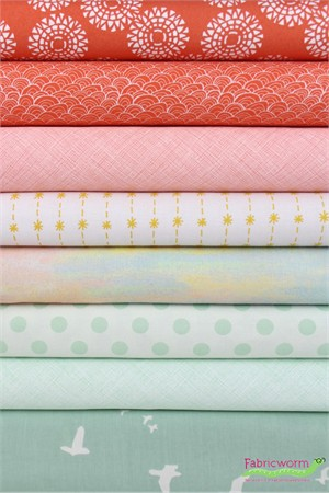 Fabricworm Custom Bundle, Pastel Fiesta in FAT QUARTERS 8 Total