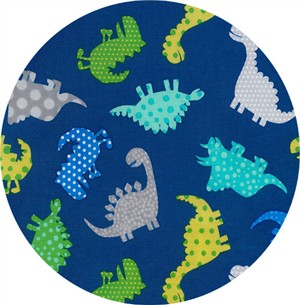 Timeless Treasures, Dino-Mite, Patterned Dinosaurs Royal