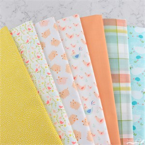 Fabricworm Custom Bundle, Peachy Piggies in FAT QUARTERS 7 Total