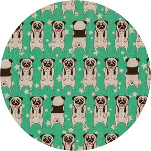Japanese Import, CANVAS, Peculiar Pugs Green