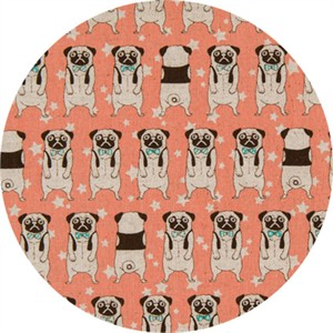 Japanese Import, CANVAS, Peculiar Pugs Peach