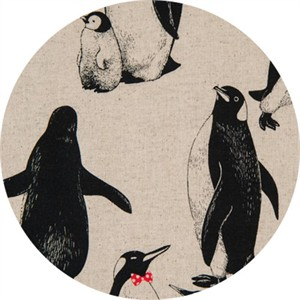 Japanese Import, CANVAS, Pensive Penguins Natural