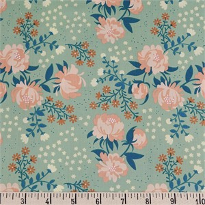 COMING SOON, Teagan White for Birch Organic Fabrics, Best of Teagan White, Peonies Mint