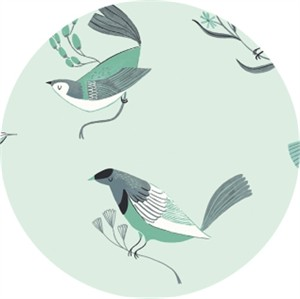 Rae Ritchie for Dear Stella, Foxtail Fern/Perch, Perch Mint