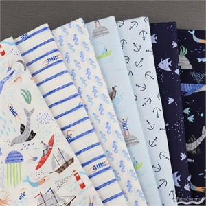 Dear Stella, Pier Pressure in FAT QUARTERS 7 Total (PRECUT)