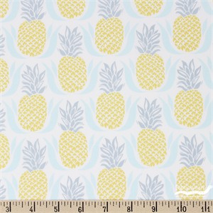 Kate Spain for Moda, Bungalow, Pineapple White Aqua