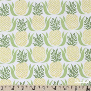 Kate Spain for Moda, Bungalow, Pineapple White Lime