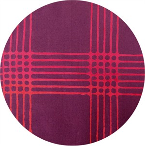 Alison Glass for Andover, Chroma Handcrafted, Plaid Eggplant