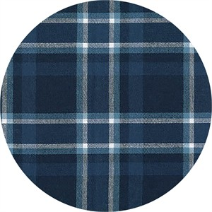 Robert Kaufman, Indigo Plaid, TWILL, Indigo