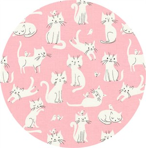 Robert Kaufman, Whiskers & Tails, Playful Kitty Pink