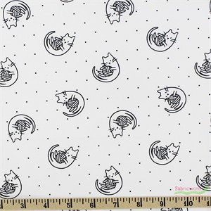 Camelot Fabrics, Meow, Playtime White