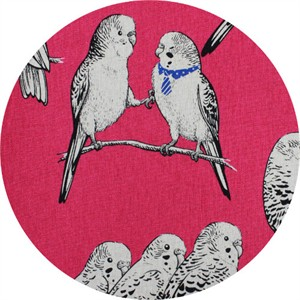 Japanese Import, CANVAS, Polly and the Parakeets Fuchsia