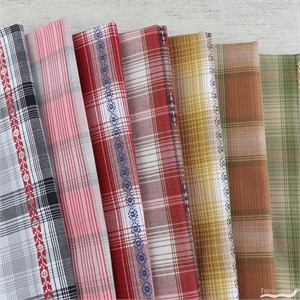Robert Kaufman, Ponderosa Plaids FAT QUARTERS 7 Total