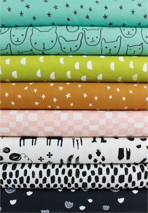 Alexia Marcelle Abegg for Cotton and Steel, Print Shop, Subtle in FAT QUARTERS 8 Total (Pre-Cut)
