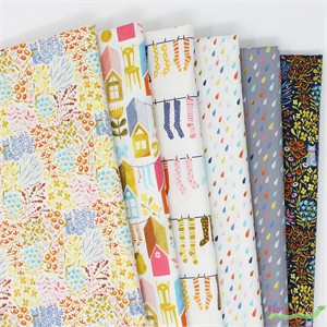 Striped Pear Studio for Windham, Paint the Town ORGANIC, Prints in FAT QUARTERS 5 Total