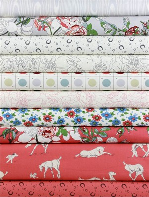 Erin Michael for Moda Fabrics, Purebred, Derby in FAT QUARTERS 9 Total