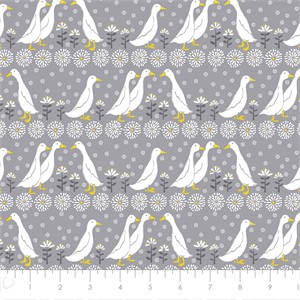 COMING SOON, Vicky Yorke for Camelot Fabrics, Village Life, Quack Grey