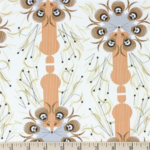 Charley Harper for Birch Organic Fabrics, Backyard, Quail Safe