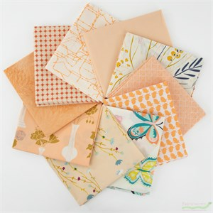 Art Gallery Fabrics, PRE-CUT Color Master, Quite Peachy in FAT QUARTERS 10 Total