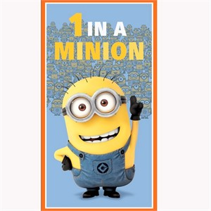 "Quilting Treasures, One in a Minion, Minion Dusty Blue Panel (24"" Panel)"